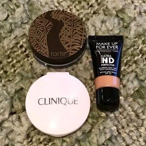 MUFE, Clinque, Tarte Foundation & Powder Minis $20